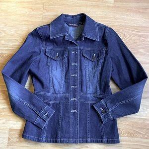 Vintage 90s Denver Hayes Peplum Style Denim Jacket
